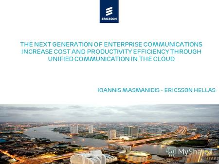 Slide title minimum 48 pt Slide subtitle minimum 30 pt The next generation of enterprise communications INCREASE COST and Productivity Efficiency through.