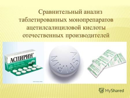аспирин препарат группы