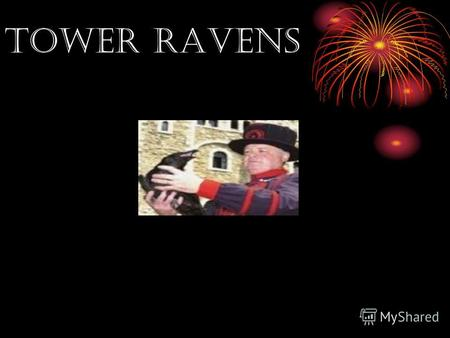 TOWER RAVENS. Great Britain. London. Many boys and girls visit Great Britain.