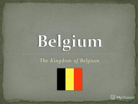 The Kingdom of Belgium. The Geography The Rivers.
