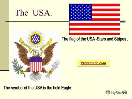 The USA. Prezentacii.com. Washington D.C. and New-York are situated on the east coast of the USA. They are washed by the Atlantic Ocean.