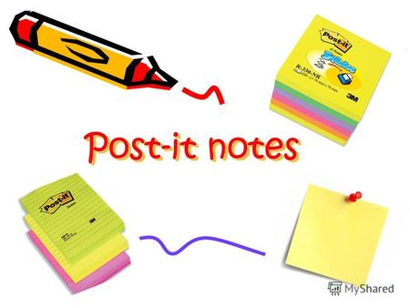 Post-it notes Post-it notes. A Post-it note is a piece of stationery with a readherable strip of adhesive on the back, designed for temporarily attaching.