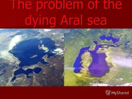The problem of the dying Aral sea. Aral today The Aral Sea is one of the environmental disasters of the world.