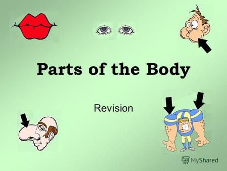 Parts of the Body Revision. Listen, Sing and Do THE BODY SONG Head and shoulders, knees and toes, Knees and toes! Head and shoulders, knees and toes,