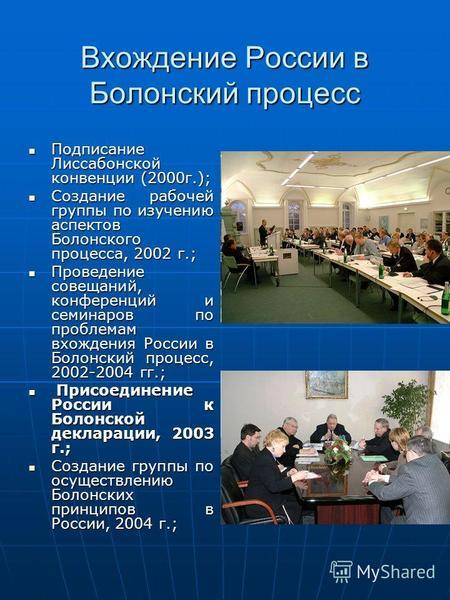 болонская конвенция 2003