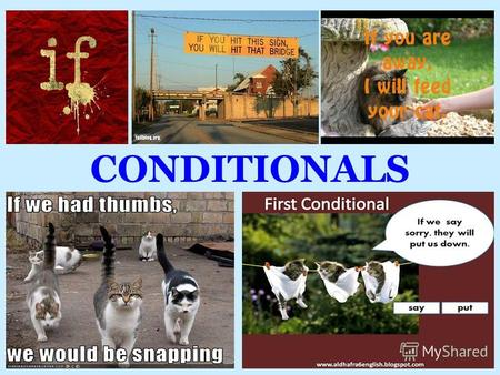 CONDITIONALS. The structure If – clause,Result (Main) clause. Result (Main) clause, If – clause.
