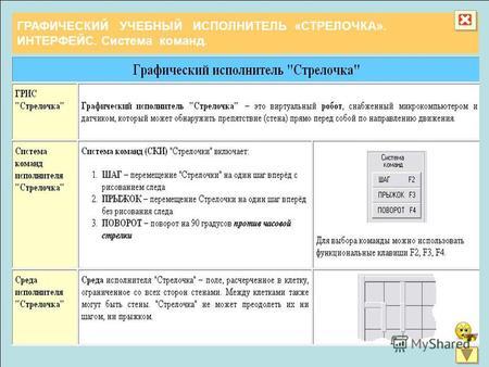 Программу графический учебный исполнитель