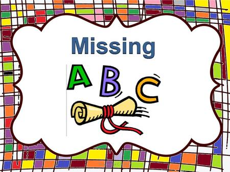 ABC missing letters