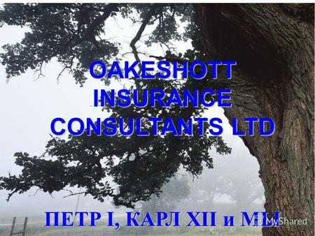 OAKESHOTT INSURANCE CONSULTANTS LTD ПЕТР I, КАРЛ XII и МЫ.