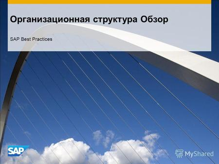 Организационная структура Обзор SAP Best Practices.