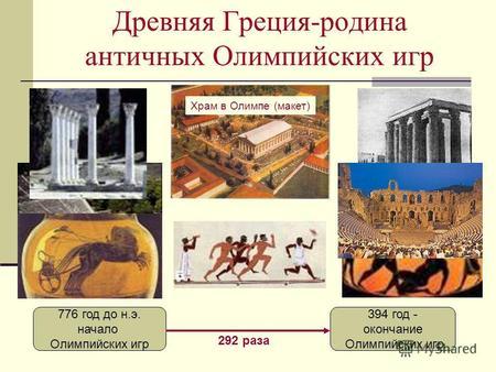 Презентацию на тему олимпийские игры греции