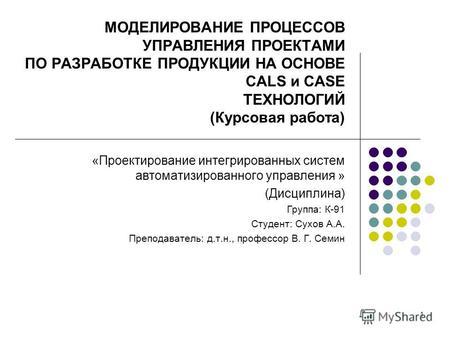 Курсовая сравнительный анализ стандартов управления проектами 3839