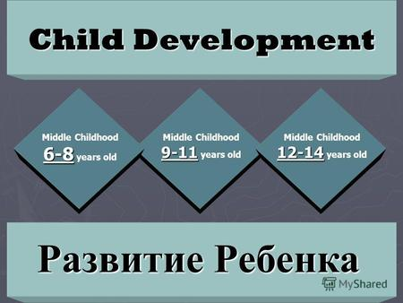 Child Development 9-11 Middle Childhood 9-11 years old 12-14 Middle Childhood 12-14 years old 6-8 Middle Childhood 6-8 years old Развитие Ребенка.