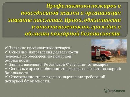 Доклад по обж профилактика пожаров в повседневной жизни 2382