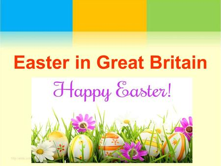 Easter in Great Britain. Easter comes in spring (in March or April). It is a religious celebration and Easter comes in spring (in March or April). It.