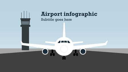 Airport infographic Subtitle goes here. Static title page Airport infographic.