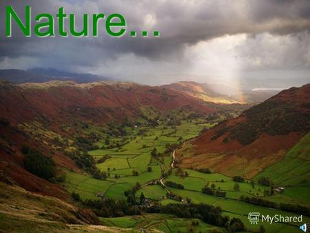 Nature... What do we know about it? How do we use it? What can we do for it?