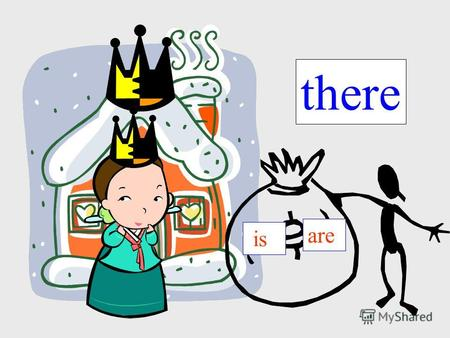 There is are. Singular (1) there plural there There is a bed in the room. – Кровать в комнате. Есть There is/are There are flowers in the garden. -