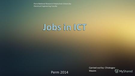 Jobs in ICT