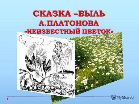Неизвестный цветок жанр произведения