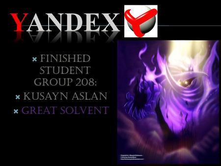 Finished student group 208: Kusayn Aslan Great solvent.