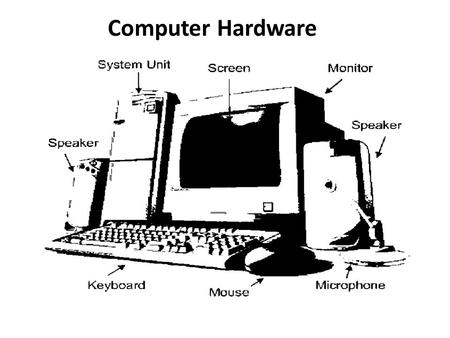 Computer Hardware. Basic Information Technology Terminology ACPI - Advanced Configuration and Power Interface enables the operating system to control.