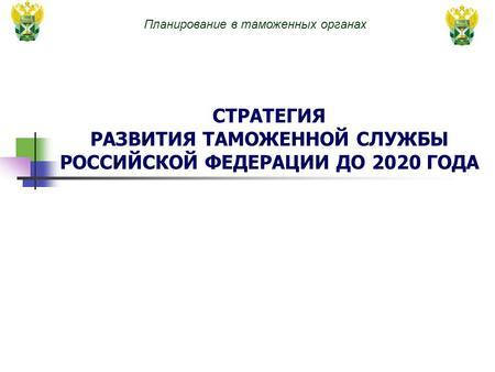 планирование в таможенном деле 2020