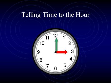 Telling Time to the Hour. The Hands of Time The long hand is the minute hand. The short hand is the hour hand.