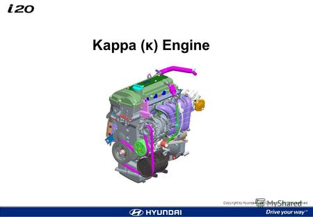 Copyright by Hyundai Motor Company. All rights reserved. Kappa (κ) Engine.