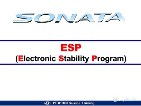 ESP ( E lectronic S tability P rogram). APPLICATION OF NF ABS/ESP [ O: Optional Item, S: Standard Item, August 2004]
