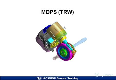 MDPS (TRW) 2 Application - Applied in both LHD and RHD as a standard including North American market. - TRW GEN2 (Model name) - Smaller and light motor.