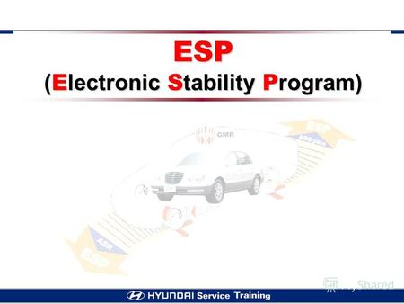 ESP ( E lectronic S tability P rogram). ESP GENERAL ABS in add on design (Integrated type) - - Brake booster & Tandem master cylinder - - Wheel brakes.