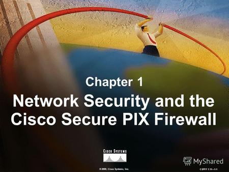 © 2000, Cisco Systems, Inc. CSPFF 1.111-1 Chapter 1 Network Security and the Cisco Secure PIX Firewall.