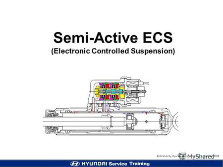 Published by Hyundai Motor company, september 2005 Centennial Semi-Active ECS (Electronic Controlled Suspension)