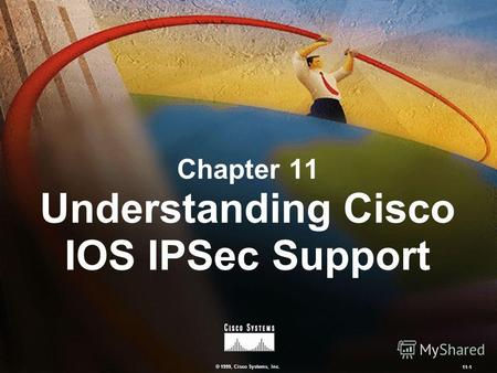 © 1999, Cisco Systems, Inc. 11-1 Chapter 11 Understanding Cisco IOS IPSec Support.