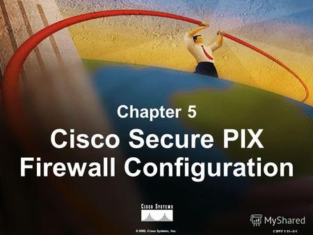 © 2000, Cisco Systems, Inc. CSPFF 1.115-1 Chapter 5 Cisco Secure PIX Firewall Configuration.