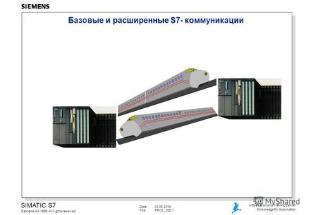 Date:29.09.2014 File:PRO2_10E.1 SIMATIC S7 Siemens AG 1999. All rights reserved. Information and Training Center Knowledge for Automation Базовые и расширенные.