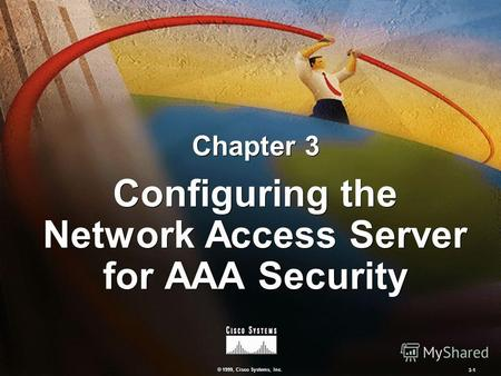 © 1999, Cisco Systems, Inc. 3-1 Configuring the Network Access Server for AAA Security Chapter 3.