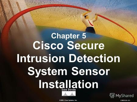 © 2001, Cisco Systems, Inc. CSIDS 2.05-1 Chapter 5 Cisco Secure Intrusion Detection System Sensor Installation.