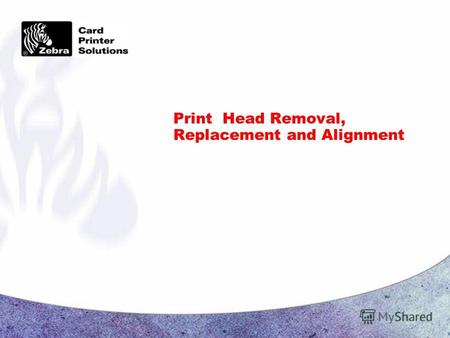 Print Head Removal, Replacement and Alignment. Page 2 CONFIDENTIAL Print Head Assembly Removal Turn off printer A.C. power Unplug the printer from the.