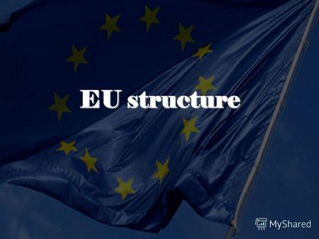 EU structure. Parliament only directly elected body the legislative and budgetary authority 785 members every 5 years represent nearly 500 million citizens.