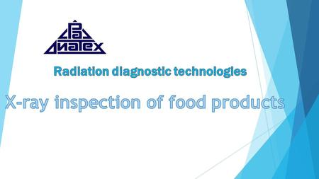 X-ray inspection of food products